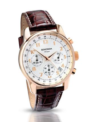 Buy Sekonda Gents Rose Gold Plated Watch