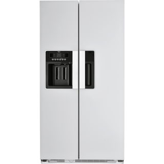"Buy ""Intense White"" Total No Frost Nova Side-by-Side Fridge-Freezer"