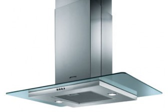 Buy Smeg Cooker Hood 90cm in Stainless Steel and Glass Island Style