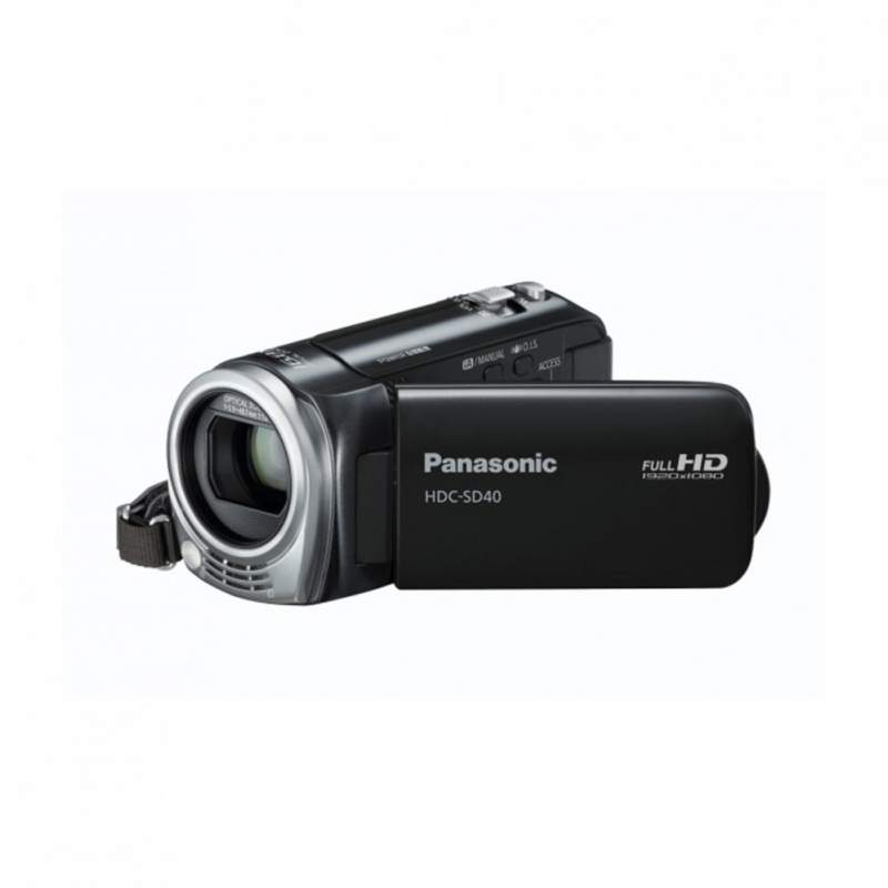 Buy Panasonic HDCSD40EBK HD Camcorder with Zoom Mic and Wind Noise Canceller