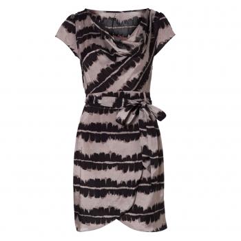 Buy Brush Print Wrap Dress