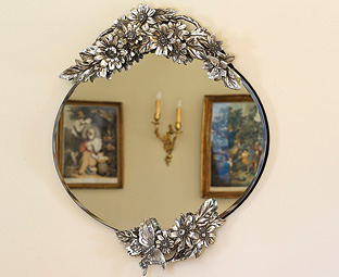 Buy Butterfly and Flowers Mirror