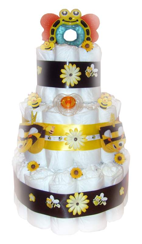Buy Bumble Bee 3 Tier Nappy Cake