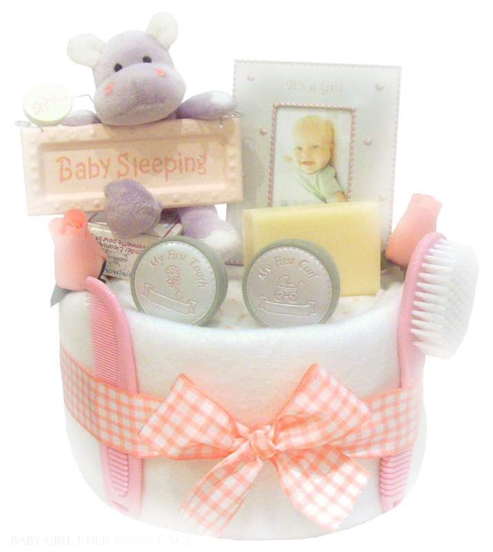 Buy Baby Girl 1 Tier Nappy Cake
