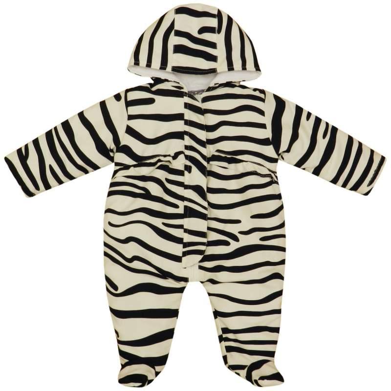 Buy Minx Zebra Print Snowsuit Black & White 0-24 Months