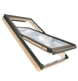 Buy 02 size 55x98 Centre Pivot Pine Roof Windows Thermal OKPOL