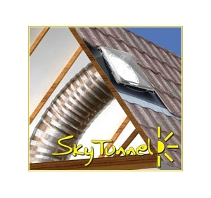 Buy 343mm Sky Tunnel, Flat roof flashing with 3m Flexi tube