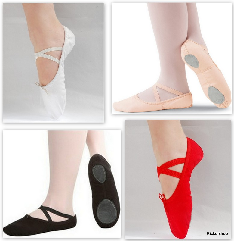 Buy Canvas Ballet Shoes Slippers Red Pink Black White