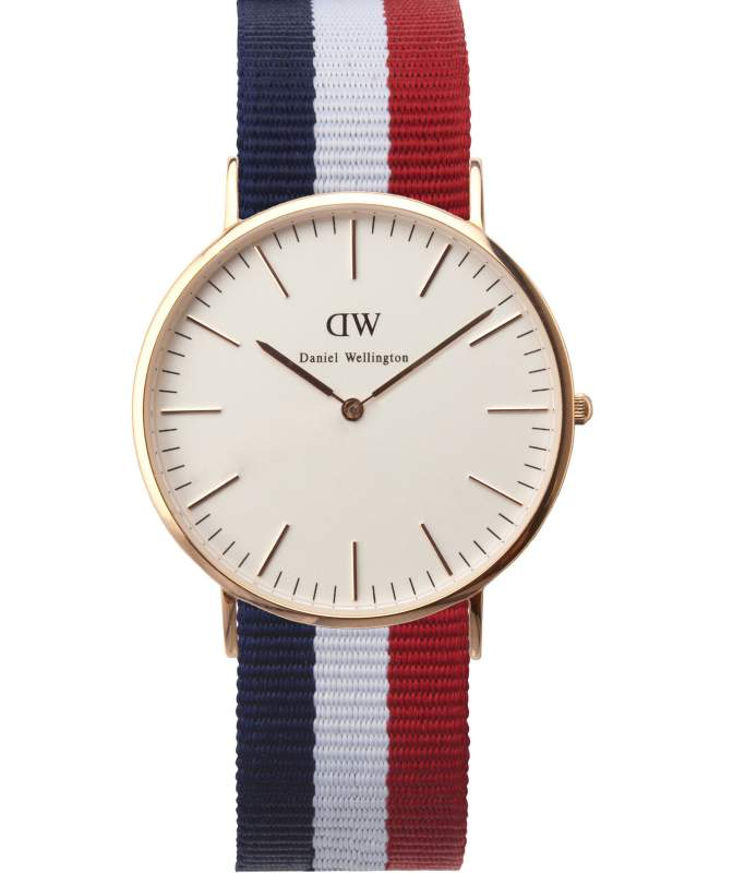 Buy Daniel Wellington Mens Cambridge Rose Strap Watch