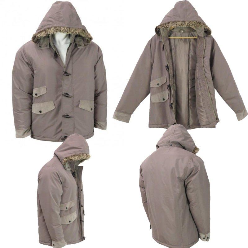Buy Wholesale Mens Fur Trim Hooded Winter Jacket