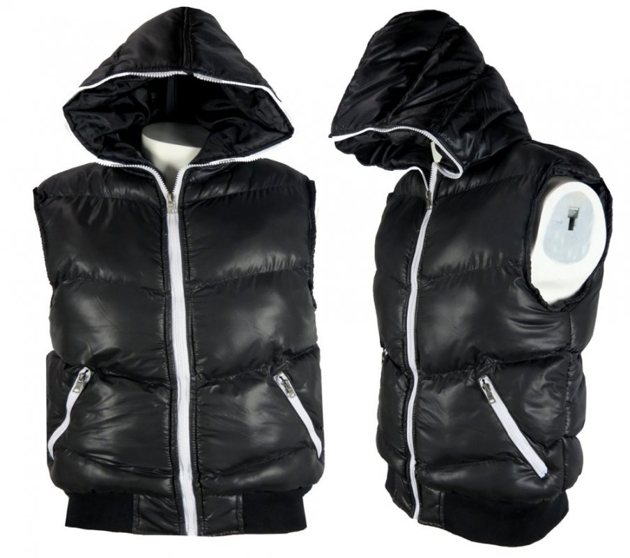 Buy Wholesale Mens Hooded Gilet Bodywarmer Sleeveless Zip Jacket