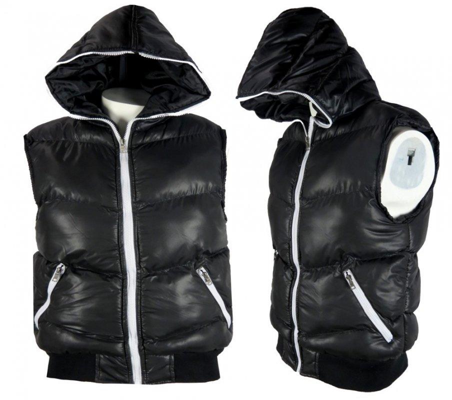 Buy Wholesale Mens Hooded Gilet Bodywarmer Sleeveless Zip Jacket