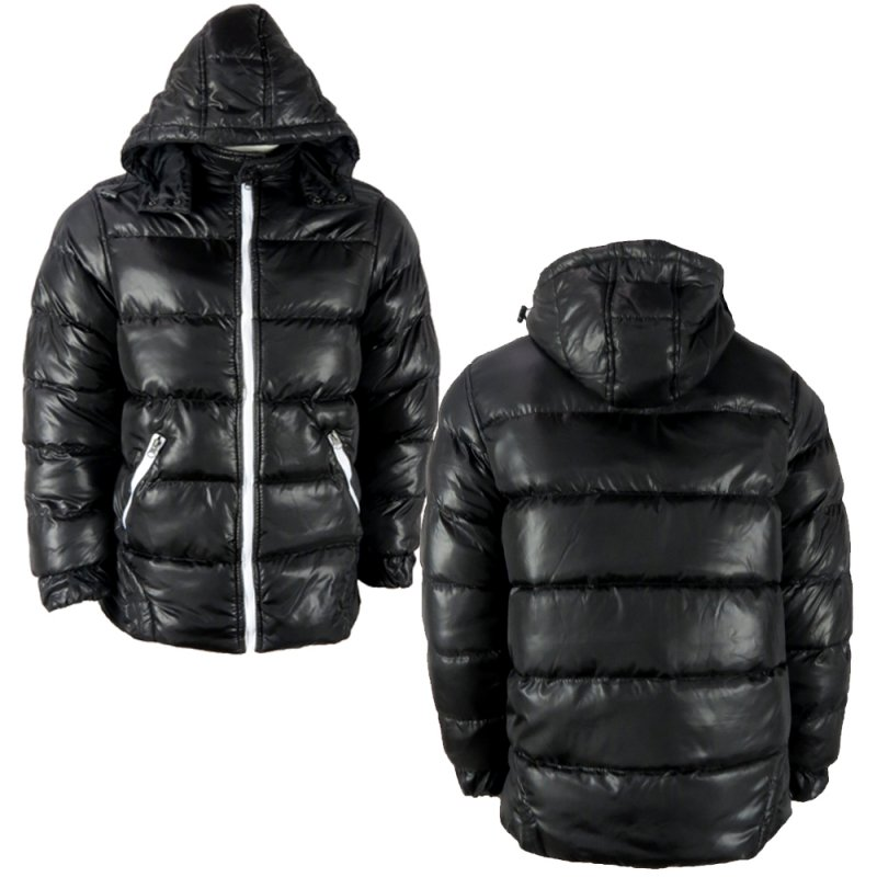 Buy Wholesale Mens Padded Hood Zip Jacket