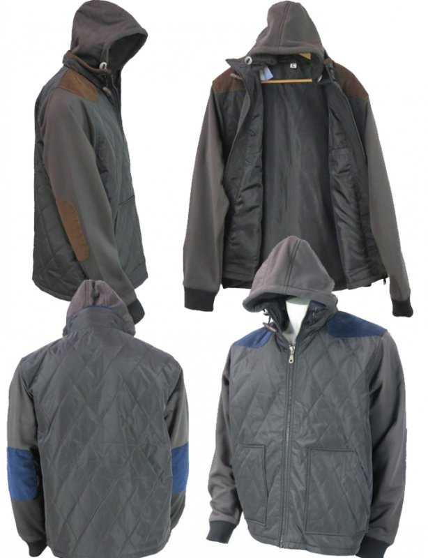 Buy Wholesale Mens Hooded Fleece Sleeve Jacket