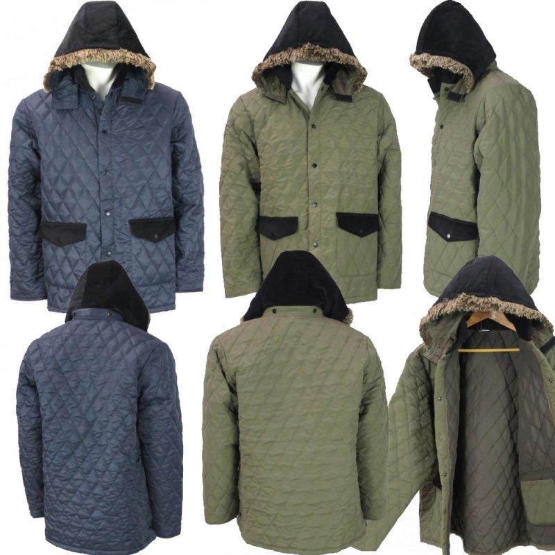 Buy Wholesale Mens Quilted Fur Trim Hood Jacket