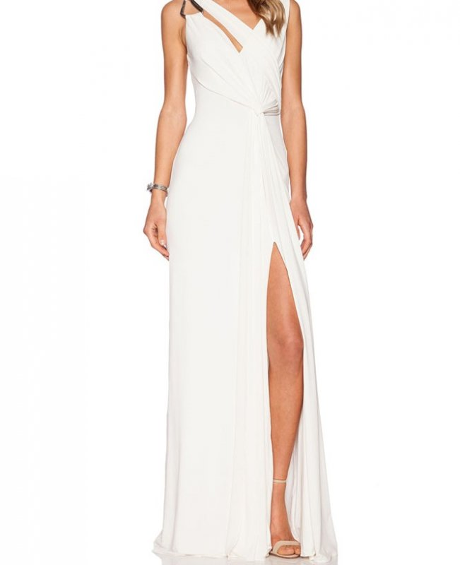 Buy Cowl Back Gown Sleeveless Jersey Maxi