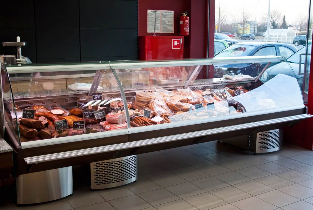 Buy Serve over counter/meat display/many sizes/top quality