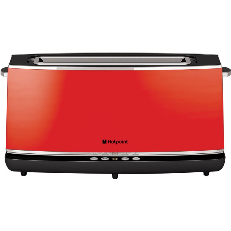 Buy Hotpoint TT12EAR0 Electronic1Slot Long Toaster Red