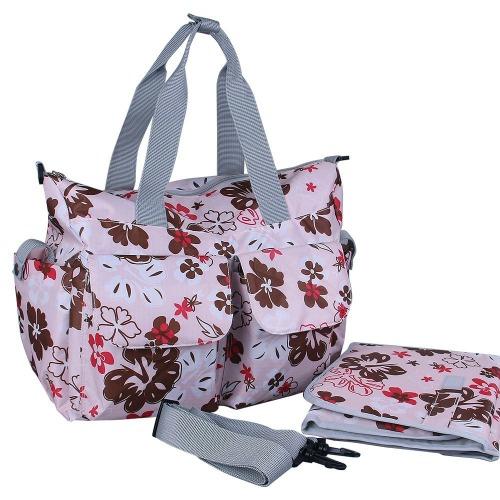 Buy Large Baby Changing Bag, Grey Pink Asymmetric