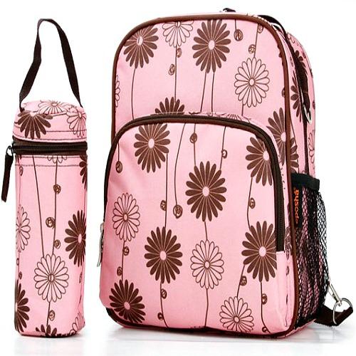 Buy Pink Floral Baby Changing Bag Rucksack Set
