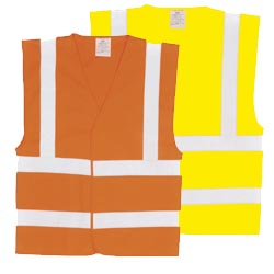 Buy High Visibility Double Band and Brace Vest / Waistcoat