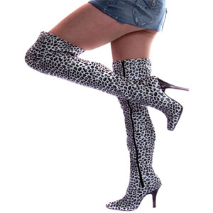 Leopard print thigh high boots in Banwell online-store Nicci Shoes ...