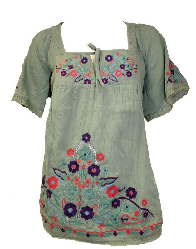 Buy Warehouse tunic top flower detail