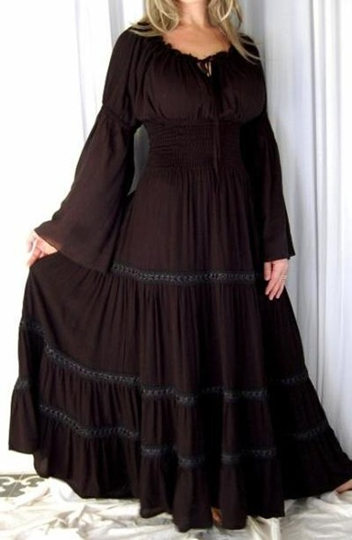 Gothic Black Mexican Peasant Dress Black Lace Buy In York