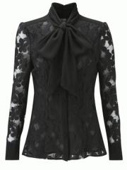 Marion Lace Shirt Black