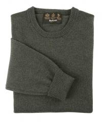 Barbour Mens Lambswool Classic Crew Neck Sweater