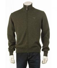 Barbour Mens Lambswool Full Zip Sweater