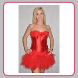 Flirty Red Corset & Red Tutu