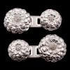 Sterling Silver Lyte Flower Cufflinks