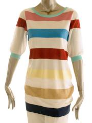 Moschino Short sleeve stripe top