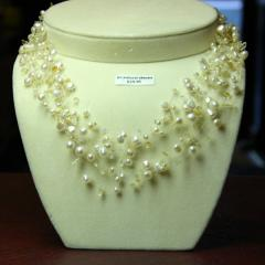 Great Citrine and Pearl Muliti Strand Necklace. 9