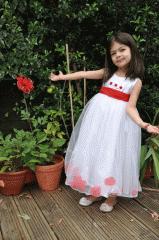 Petals red flower girl dress