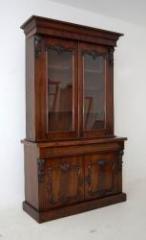 Large Antique William IV Mahogany Bookcase