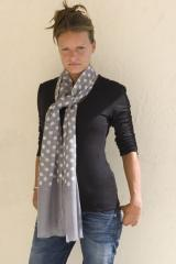 Silk and Wool Spot Scarf