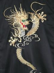 Men's Polyester Embroidered Kimono