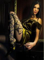 Black Tights with Black & Golden Tattoo