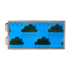 Novelty Money Clip Weather Clouds