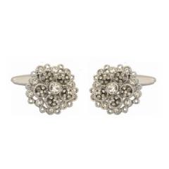 Crystal Flower Cufflinks