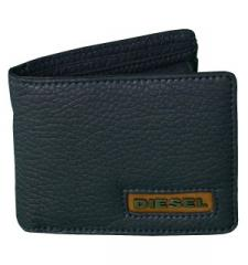 Diesel Core Hiresh XS Blue Leather Wallet