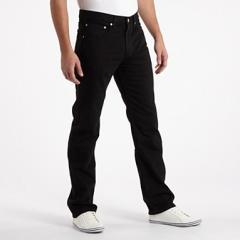 Levi's Black 752 zip jeans