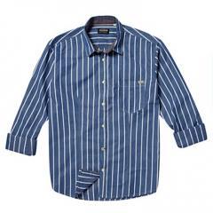 Blue 'Victor' bold striped shirt