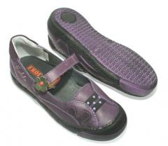Froddo Purple Elastic Leather Mary Jane shoes
