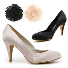 Satin Heel with Ruffle Shoes