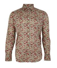 Red Claire Aude Liberty Print Shirt, Liberty of