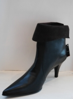 Mid heeled Black stiletto Ankle Boots