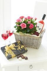 Rosé Wine Gift Basket